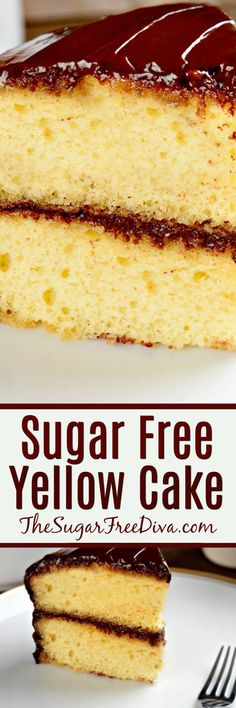 A Basic and Easy Sugar Free Yellow Cake Recipe- so good and easy to make. I'm glad that it is sugar free too