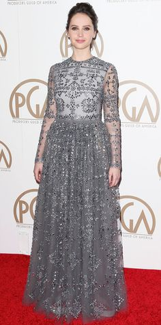 Look of the Day - January 26, 2015 - Felicity Jones in Valentino from #InStyle