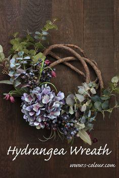 Growing Flowers, Cut Flowers, Hydrangea Wreath, Floral Wreath, Autumn Wreaths, Christmas Wreaths, Diy Wreath, Artificial Flowers, Flower Designs