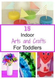 15 Simple Indoor Arts and Crafts Activites for Toddlers. Simple art and craft activities, taste safe activities, rainbow activities. Colourful and simple fun for toddlers on a rainy day