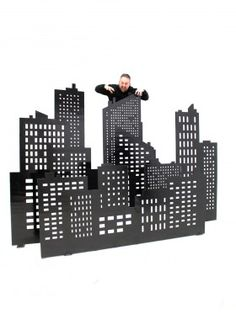Event Prop Hire: City Skyline Cutouts - Set of 4