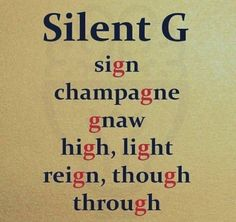 """English words with silent """"G"""" Learn the <igh> and the <ugh> are 3 letter grapheme English Spelling, English Phonics, Teaching English Grammar, English Sentences, English Writing Skills, English Language Learning, English Phrases, Learn English Words, Good Vocabulary"""