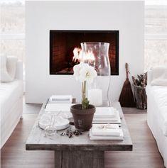 new fireplace on Bay Road photo by marili forastieri