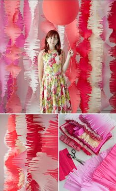 DIY fringe decor - photobooth backdrop, maybe? Party Kulissen, Craft Party, Party Time, Party Ideas, Diy Photo Booth, Photo Booth Backdrop, Backdrop Ideas, Booth Ideas, Cheap Backdrop