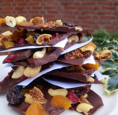 Chocolate Fruit Bark - Perfect Christmas Food Gift! ~ Dutchess Roz