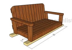 Softwoods come from the large household of cone-bearing trees that bear needles instead of leaves. Firs and pines of all sorts, redwood, cedar and cypress are normal North American softwoods made into board lumber. Porch Glider Swing, Outdoor Glider, Porch Swing, Swing Seat, Front Porch, Diy Outdoor Furniture, Outdoor Chairs, 2x4 Furniture, Adirondack Chairs