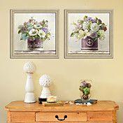 Blooming in Vase Still Life Framed Canvas Pri... – AUD $ 141.66