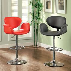 Height Adjustable Bar Stool -Br6918Rd+Gy