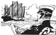 "_""Corto Maltese"" by Hugo Pratt Comic Book Artists, Comic Artist, Comic Books Art, Maltese, Illustrations, Illustration Art, Hugo Pratt, Book Creator, Fable"