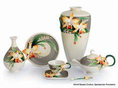 FZ02874 Franz Porcelain Magnificent Cattleya Orchid Teapot New for 2012 | eBay
