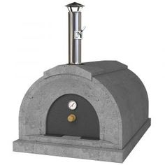Energetic Brick Outdoor Wood Fired Pizza Oven 100cm Terracotta Supreme Model Chimney Mount Garden & Patio Barbecues