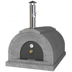 Energetic Brick Outdoor Wood Fired Pizza Oven 100cm Terracotta Supreme Model Chimney Mount Garden & Patio