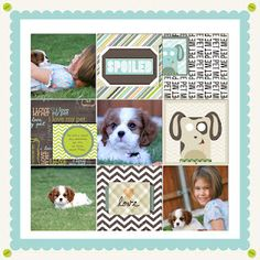 Love the idea of the whole background paper being scalloped and then same size squares on top.