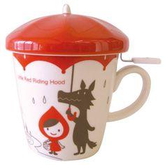 Umbrella lid with tea infuser mug set