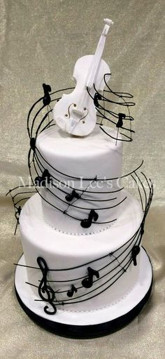 Music Themed Cake - For all your cake decorating supplies, Music Themed Cakes, Music Cakes, Music Birthday Cakes, Happy Birthday, Pretty Cakes, Beautiful Cakes, Amazing Cakes, Unique Cakes, Creative Cakes