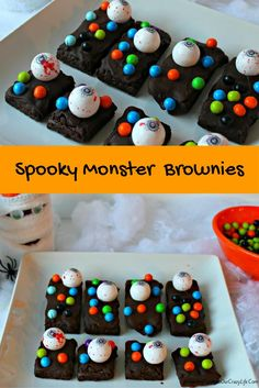 Get ready for your Halloween party with these Easy Spooky Monster Brownies & be ready for a creepy good time.  Plus enter to win a $50 Celebration by Frey Candy Prize Pack.  #CelebrationSpookyTreats @CelebrationFrey #AD