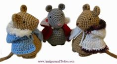 Crochet Capes with Hood For Amigurumi Mouse ~ Free Pattern