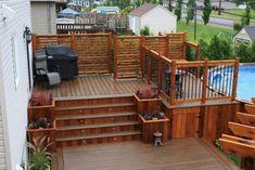 Ultimate Deck And Patio Area Retreat For Easy Living – Outdoor Patio Decor Patio Deck Designs, Patio Design, Veranda Design, Above Ground Pool Decks, Building A Porch, Deck Stairs, Diy Deck, House With Porch, House Deck