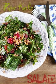 Patty's Food: Raspberry & Blood Orange Mixed Baby Kales Salad