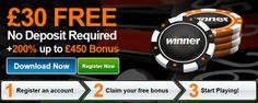 There are a lot of online casino bonus promotions of varying quality and choosing the best can often be confusing. But Winner takes casino promotions to a whole new level with offers that blow all the other offers out of the market. Get £30 Free No deposit Today! check more reviews and offer at here http://www.thebonuscasinos.co.uk