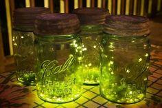 firefly mason jar | mason jar fire | Fireflies in Mason Jars