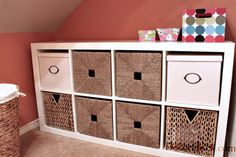 I absolutely love, love, love this laundry room make over, mostly because it would totally work for my laundry room!
