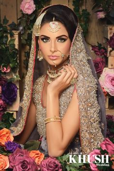 bridal hair and makeup by Reshma Make-up Artist​ LONDON BASED Outfit: Brocade London - By Sarah​ Jewellery: Anees malik Pakistani Bridal Makeup Hairstyles, Asian Bridal Hair, Asian Bridal Makeup, Best Bridal Makeup, Bridal Makeup Looks, Bride Makeup, Bride Hairstyles, Hair Makeup, Indian Bride Hair