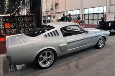 """SEMA 2011: Lindsey Bradley's 1965 Mustang Fastback """"The Silver Fox"""" 