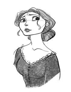 Tangled concept art for Mother Gothel.  I think this version looks soooo much more like Donna Murphy.