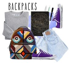 """""""Untitled #11"""" by zesirgenci ❤ liked on Polyvore featuring Blair, Fendi, Converse, backpacks, contestentry and PVStyleInsiderContest"""