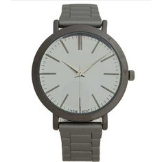 BKE Mirror Watch - Grey ($33) ❤ liked on Polyvore featuring jewelry, watches, grey, mirror watches, stainless steel jewellery, bke jewelry, mirrored jewelry and stainless steel wrist watch