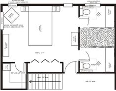 Hi everyone, Thanks to all for the useful ideas and posts. We are in the process of finalizing plans for a house addition (so many rooms, so many decisions). I am posting the layout of our planned en-suite and master bedroom. We are trying to go for a his and hers style bathroom, with a shower acces...
