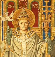 Image of Pope Saint Gregory the Great feast day 3rd September pray for us.