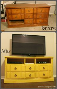 how to turn a dresser into a TV console