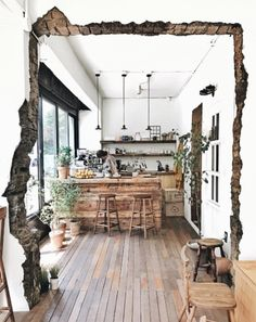 Industrial rustic kitchen design