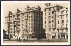 São Paulo - Praça Julio Mesquita - Foto Postal antigo original, nº 51, editor não mencionado, não circulado.