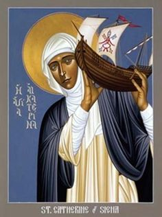 Catherine of Siena: Strong Woman of God, Model for a New Missionary Age - Christian Saints & Heroes - News - Catholic Online Catholic Online, Catholic Art, Catholic Saints, Catholic Crafts, Religious Images, Religious Icons, Religious Art, St Catherine Of Siena, Roman Church