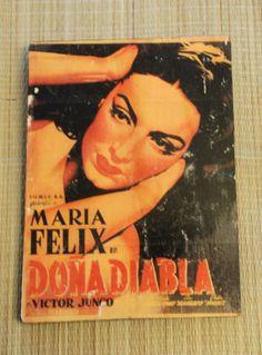 Original wood transfer DONA DIABLA  Maria by valazozartandvintage, $20.00