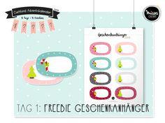 Download: Freebie Geschenkanhänger Weihnachten free printable Christmas gift tags