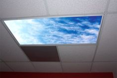 Stratus Clouds Skypanels Replacement Fluorescent Light Diffuser * For more information, visit image link. Fluorescent Light Diffuser, Compact Fluorescent Bulbs, Cirrus Cloud, Preschool Decor, Light Games, Clouds Pattern, Massage Room, Lighting Design, Living Room