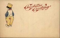 CHRISTMAS Little Dutch Boy in Patched Pants c1905 Postcard