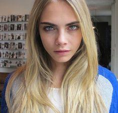 Fresh faced, bold brows