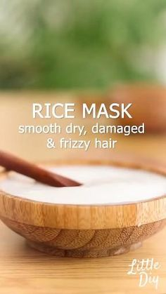 Diy Hair Treatment, Natural Hair Treatments, Hair Remedies, Skin Care Remedies, Healthy Skin Tips, Healthy Hair, Moisturizing Hair Mask, Rice Mask, Hair Growing Tips