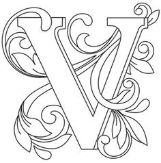 Ideas For Embroidery Patterns Alphabet Urban Threads Creative Lettering, Lettering Design, Hand Lettering, Alphabet Design, Quilling Letters, Quilling Art, Embroidery Stitches Tutorial, Embroidery Designs, Coloring Books