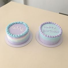 Ideas cupcakes easy cute food for 2019 Pretty Birthday Cakes, Pretty Cakes, Beautiful Cakes, Cake Birthday, Mini Cakes, Cupcake Cakes, Simple Cake Designs, Simple Cakes, Korean Cake