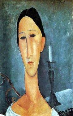 Portrait Of Anna Zborowska 1919 Canvas Print / Canvas Art by Modigliani Amedeo Amedeo Modigliani, Modigliani Paintings, Paul Cezanne, Italian Painters, Italian Artist, Claude Monet, Edvard Munch, Art Moderne, Famous Artists