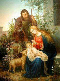 Holy Family Virgin Mary St Joseph Infant Jesus by TanabeStudio