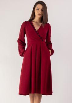 Colectie - Moze Fashion Smart Casual, Dresses With Sleeves, Lady, Long Sleeve, Fashion, Moda, Sleeve Dresses, Long Dress Patterns, Fashion Styles
