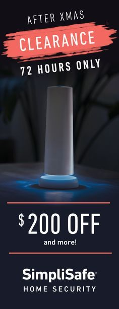 For three days only, you can save hundreds of dollars on SimpliSafe's award-winning home security. We're offering discounts on almost every system�from $40 Off the Economy all the way to $200 Off the Defender. Order now and get free shipping, plus our 60 Day Money Back Guarantee. Hurry, these deals disappear 12/29 at midnight.