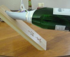 Introduction I've seen this a long time ago at a winery and always wanted to try and make it myself. Having a couple birthdays and weddings coming up made this the perfect time to learn. This makes a great gift with the lasered customization and I actually used one of these as a serving platter with cheese, crackers and salami covering the hole & design. When my guests ate the food they discovered this unique personalized gift! I made it at Techshop and used th...